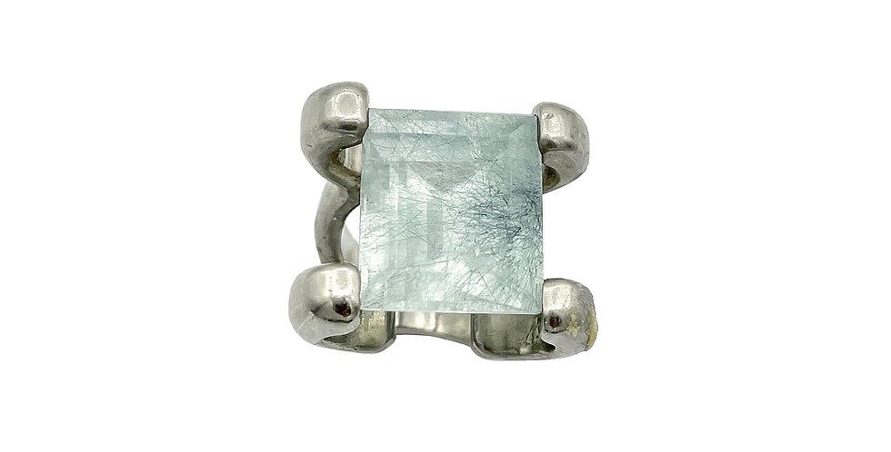 Chlorite in Quartz Tension Ring by Dori Friedberg