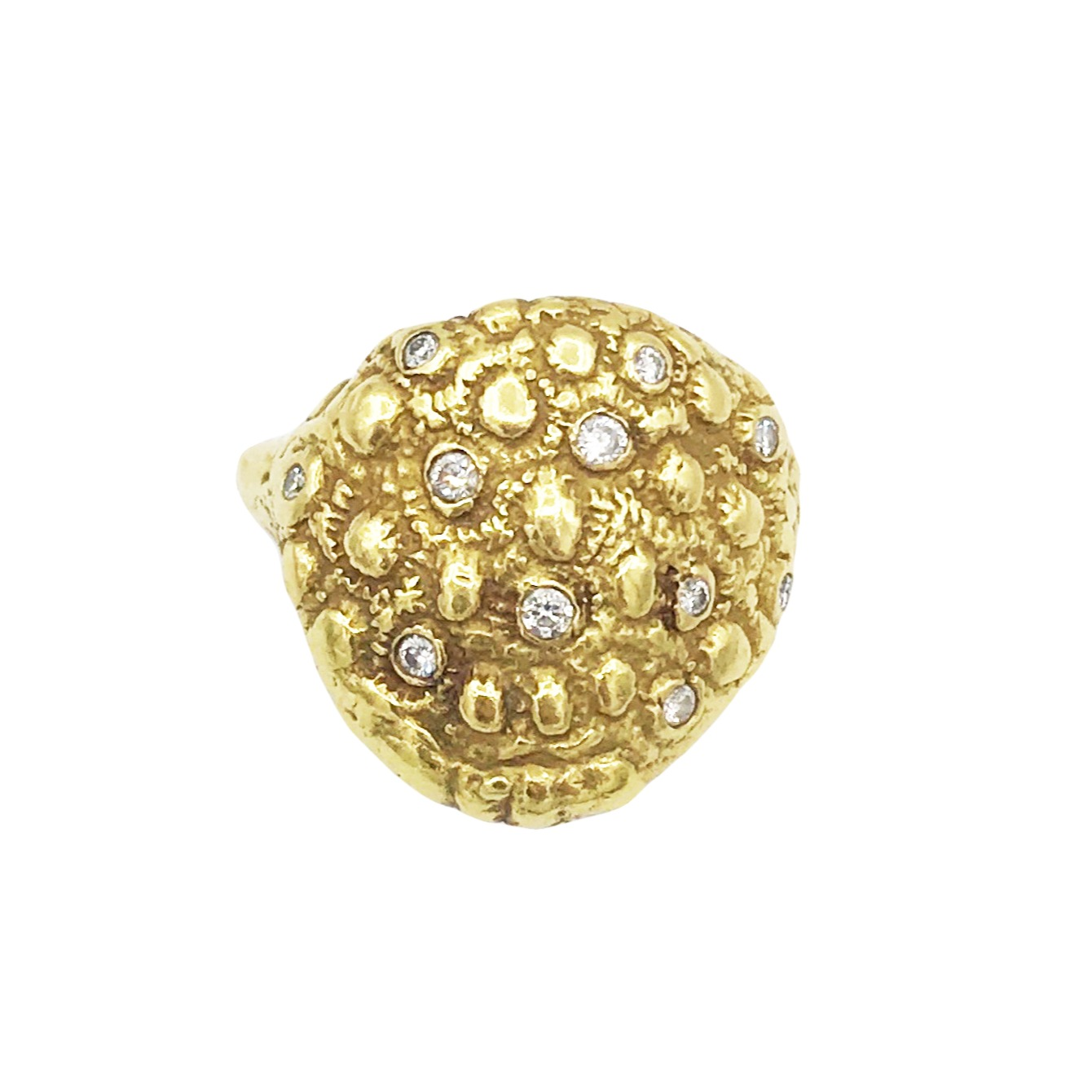 Dori Friedberg Gold and Diamond Coral Ring