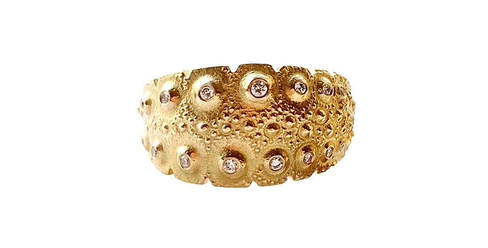 Diamond Urchin Ring