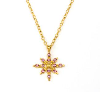 Purple Sapphire Haze 22k Necklace by Linda Hoj
