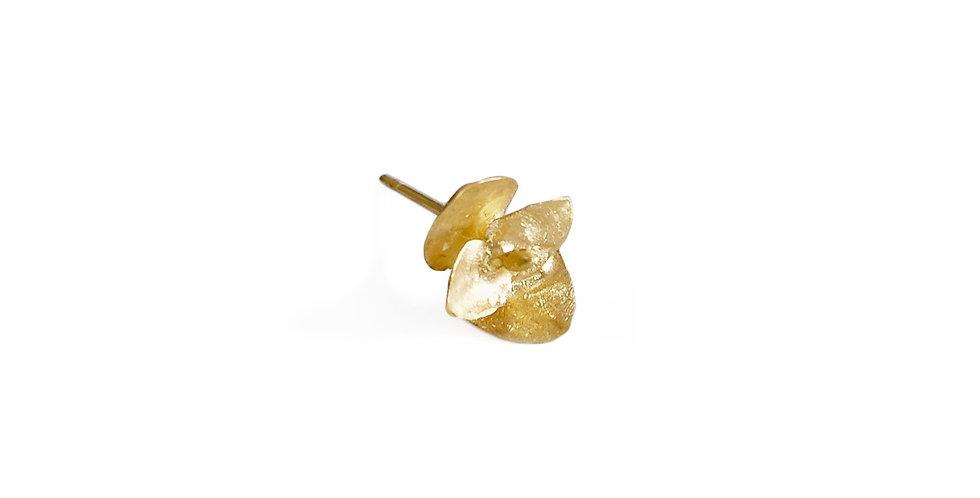 Small Eucalyptus Flower Stud Single Earring