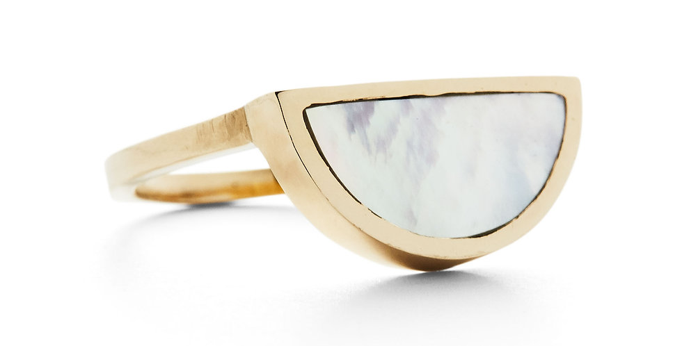 Mother of Pearl One Half Ring