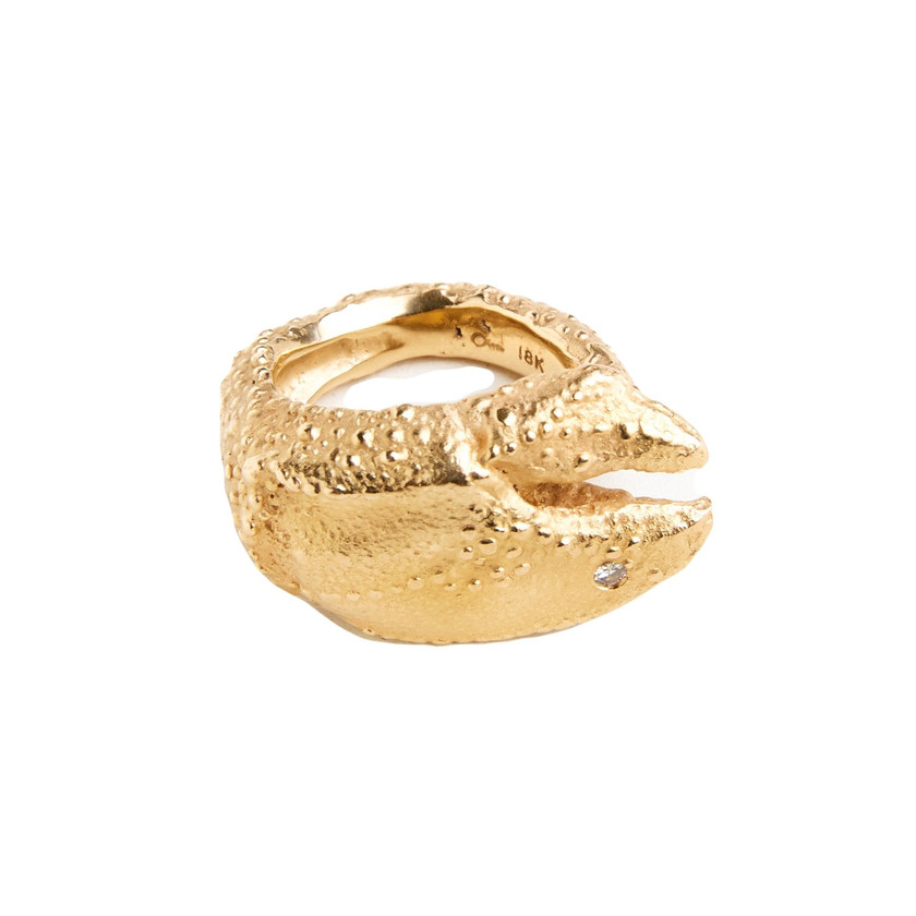Laura Caspi Gold Lobster Ring