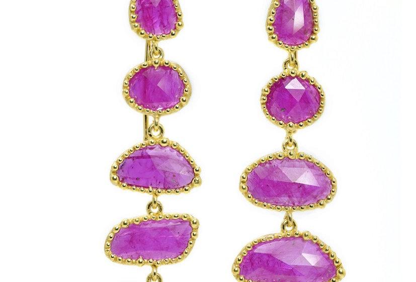 Ruby Slice Dangle Earrings