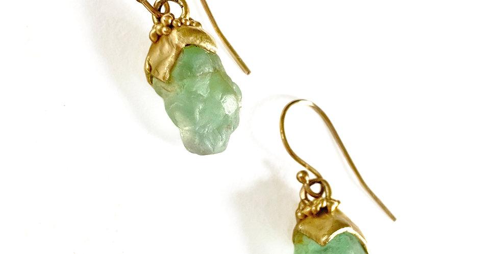 Rough Emerald Earring Pendants