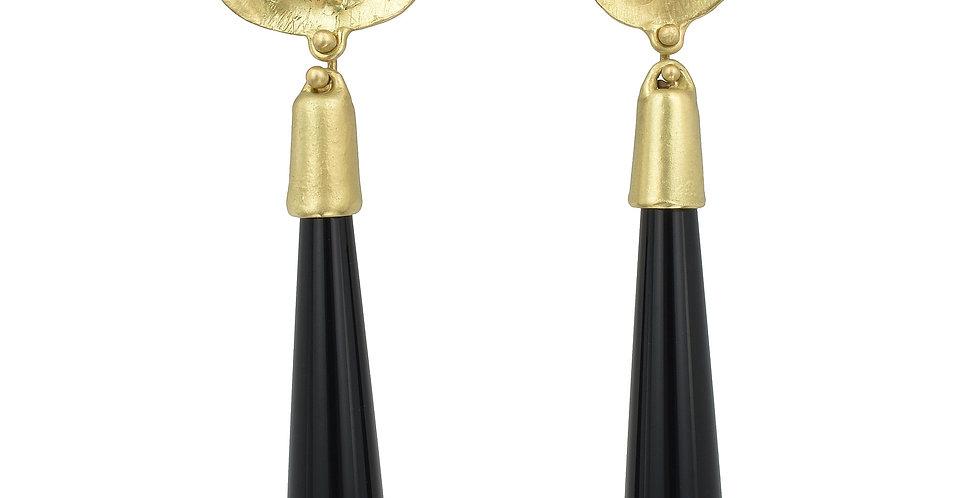 Australian Opal Black Onyx Drop Earrings