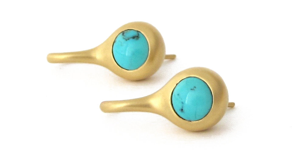 Turquoise Love Drop Earrings