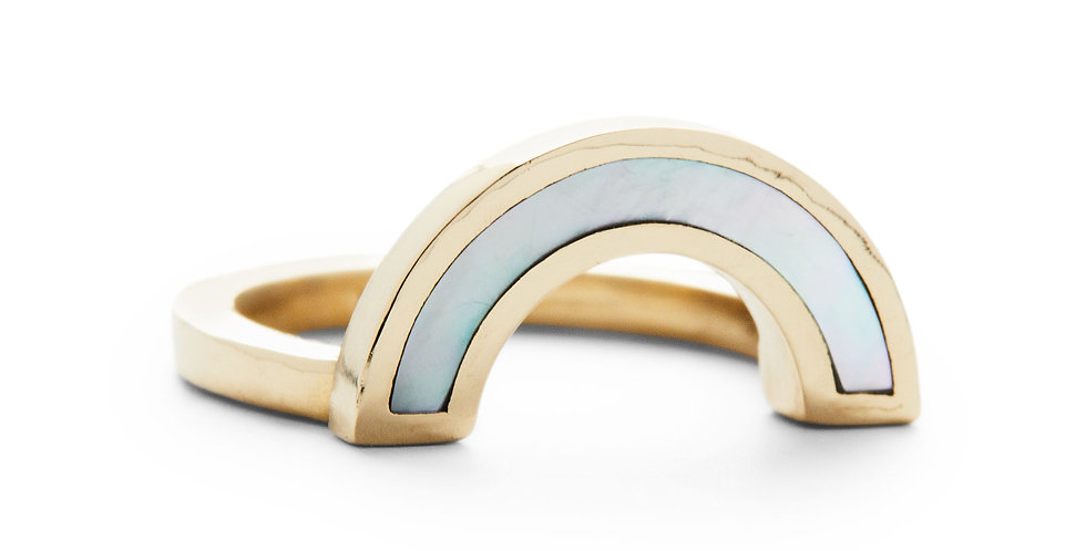 Mother of Pearl Rainbow Ring