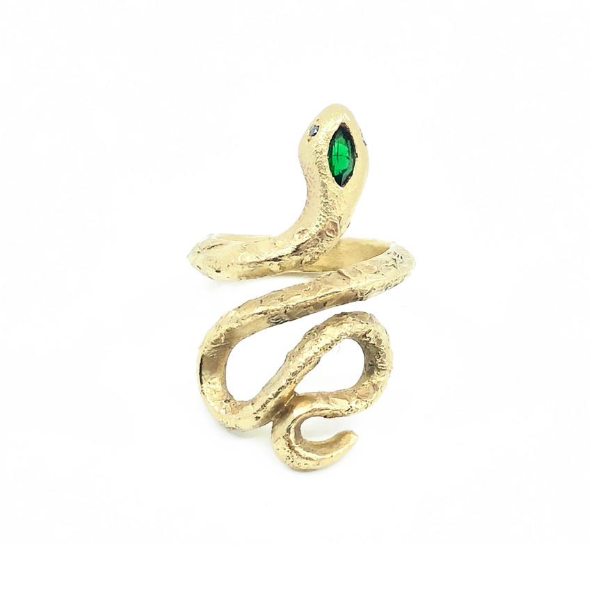 Ruth Edelson - Tsavorite Snake Ring