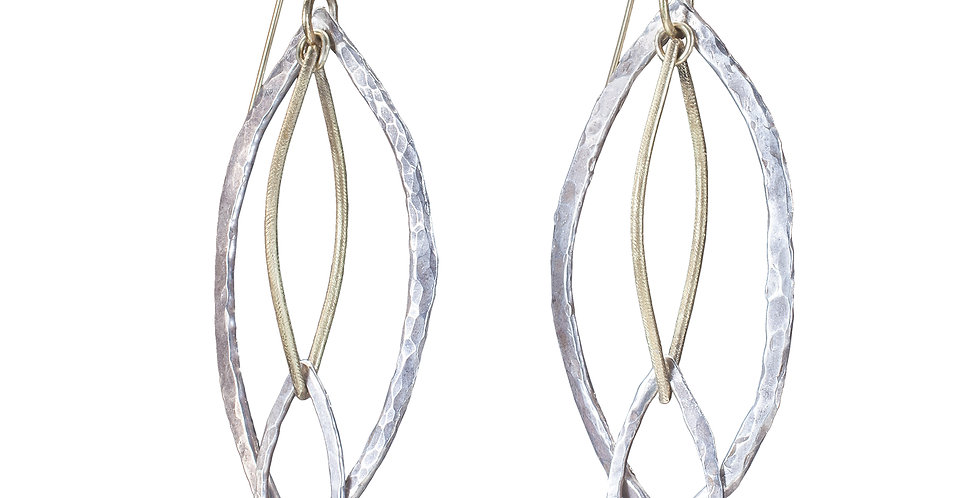 Gold and Silver Infiniti Earrings