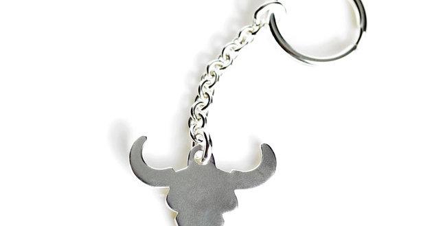 Cow Skull Key Ring