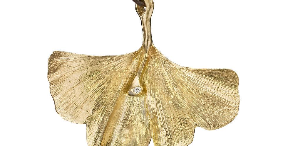 Lori Anne Designs- Ginkgo Biloba Gold Leaf Pendant