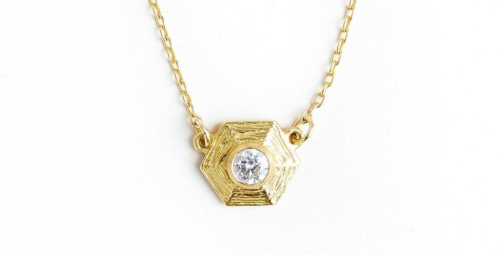 Sphaera Diamond Solitaire Hex Choker Necklace