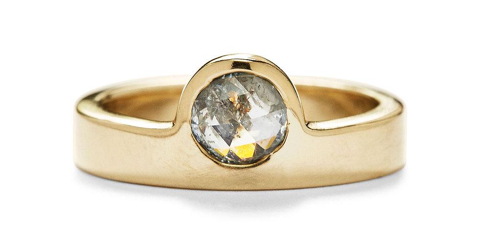 Rose Cut Diamond Odine Ring