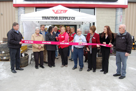 Red Ribbon Cutting at Tractor Supply