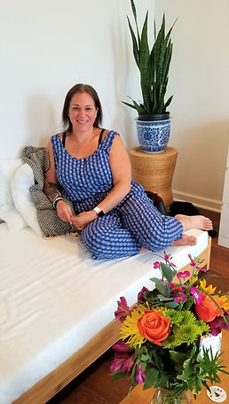 Business Owner Carrie Macrillo inside her business, Radiant You Wellness.