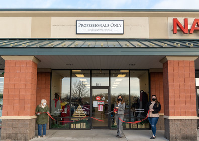 Red Ribbon Cutting at Professionals Only