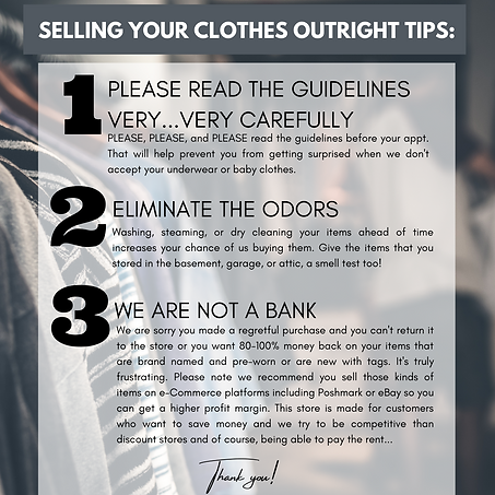 Our Resale Tips and FAQ