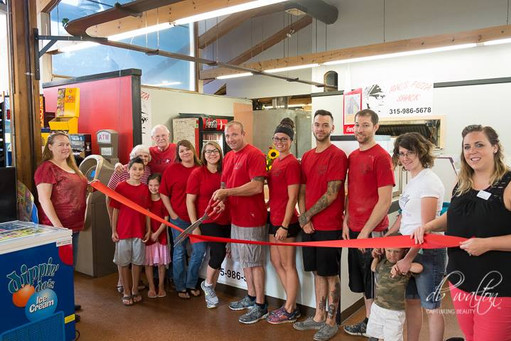 Red Ribbon Cutting for MAC's Pizza Shack