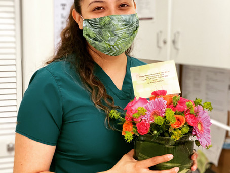 Happy MA day to our Valeria!  A special thank you for keeping our patients safe, happy and healthy.