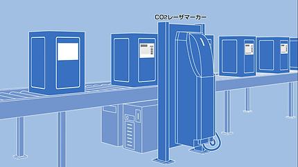 CO2レーザーマーカー レーザマーカ CO2 設備
