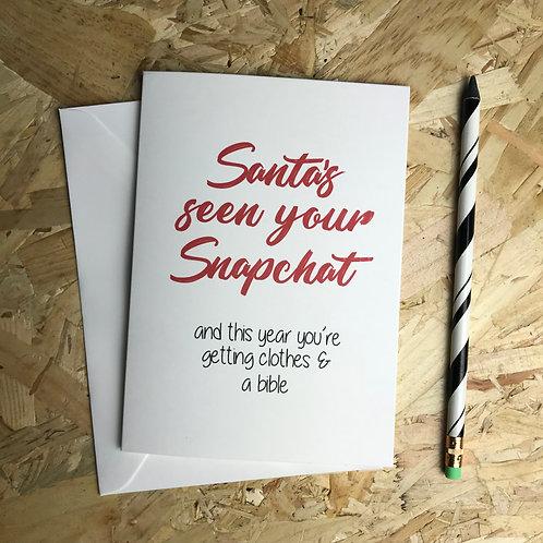 Santa's Seen Your Snapchat
