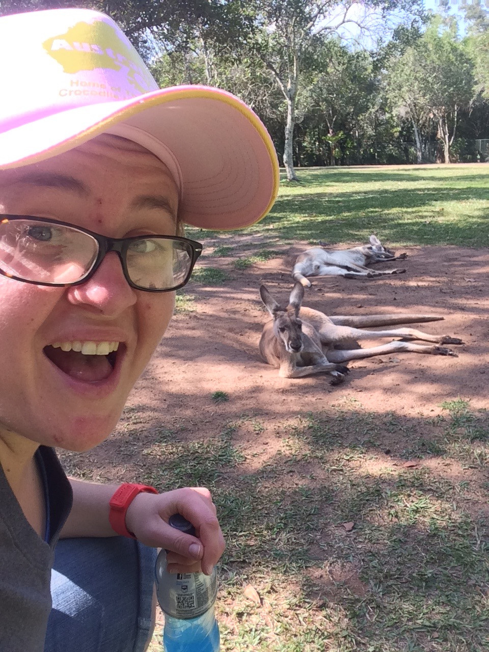 Hanging out with the locals in Australia on my layover!