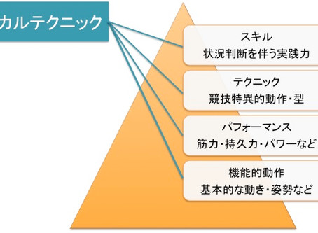 パフォーマンスピラミッドにおけるフィジカルテクニックの位置づけについて