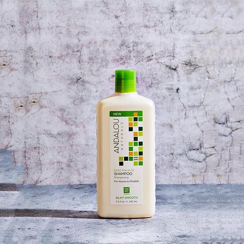 Смягчающий шампунь с маслом марулы для лёгкости жёстких и вьющихся волос