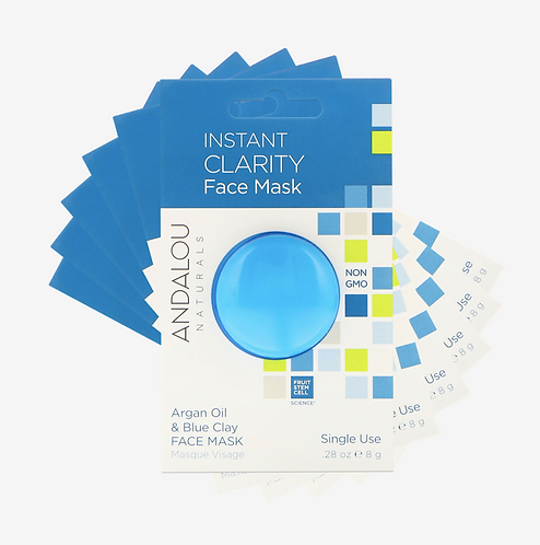 Глубоко очищающая маска с голубой глиной и аргановым маслом