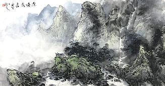 Seedlings World Chinese Ink Painting