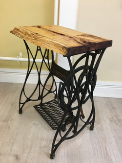 Yew top old singer sewing machine table