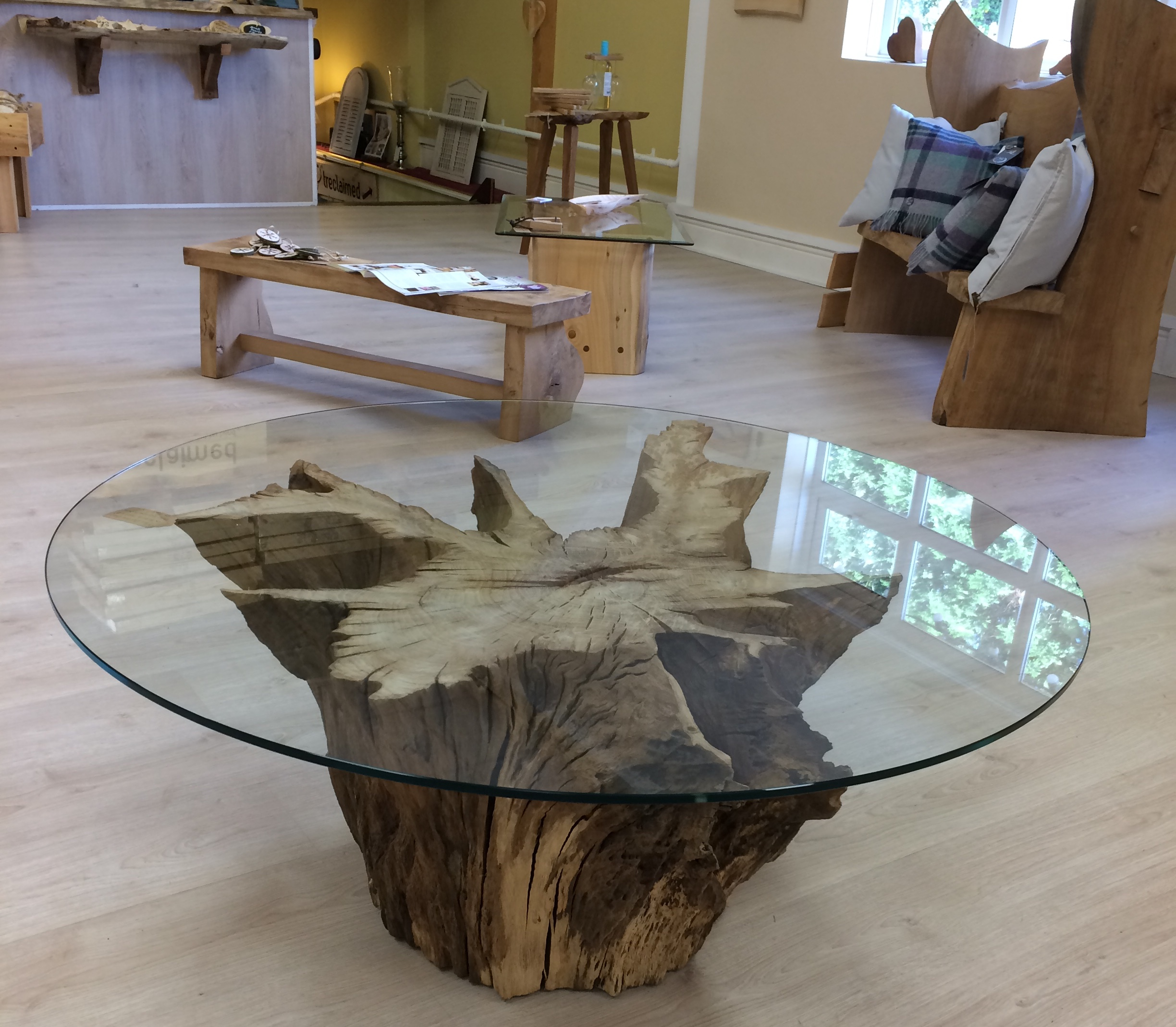 Oak root table