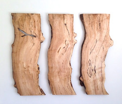 Spalted maple wall art.