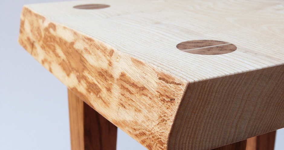 Ash tapered leg side table
