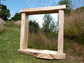 Ash slab mirror