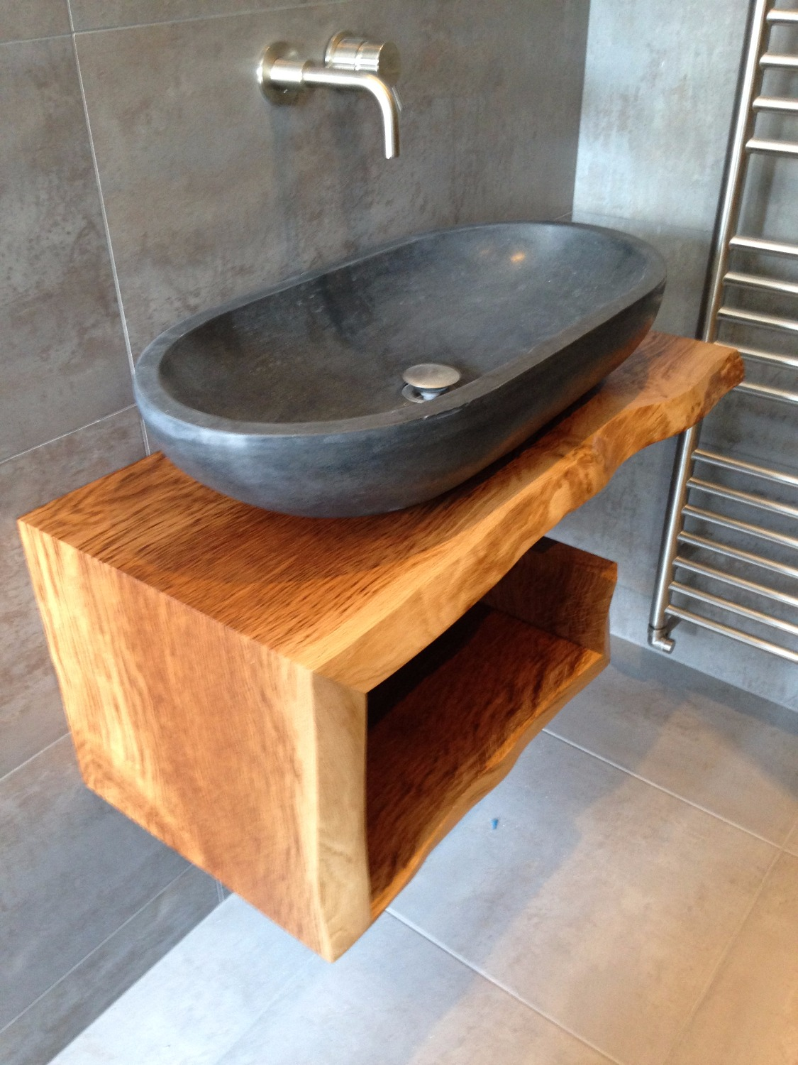 Oak sink unit