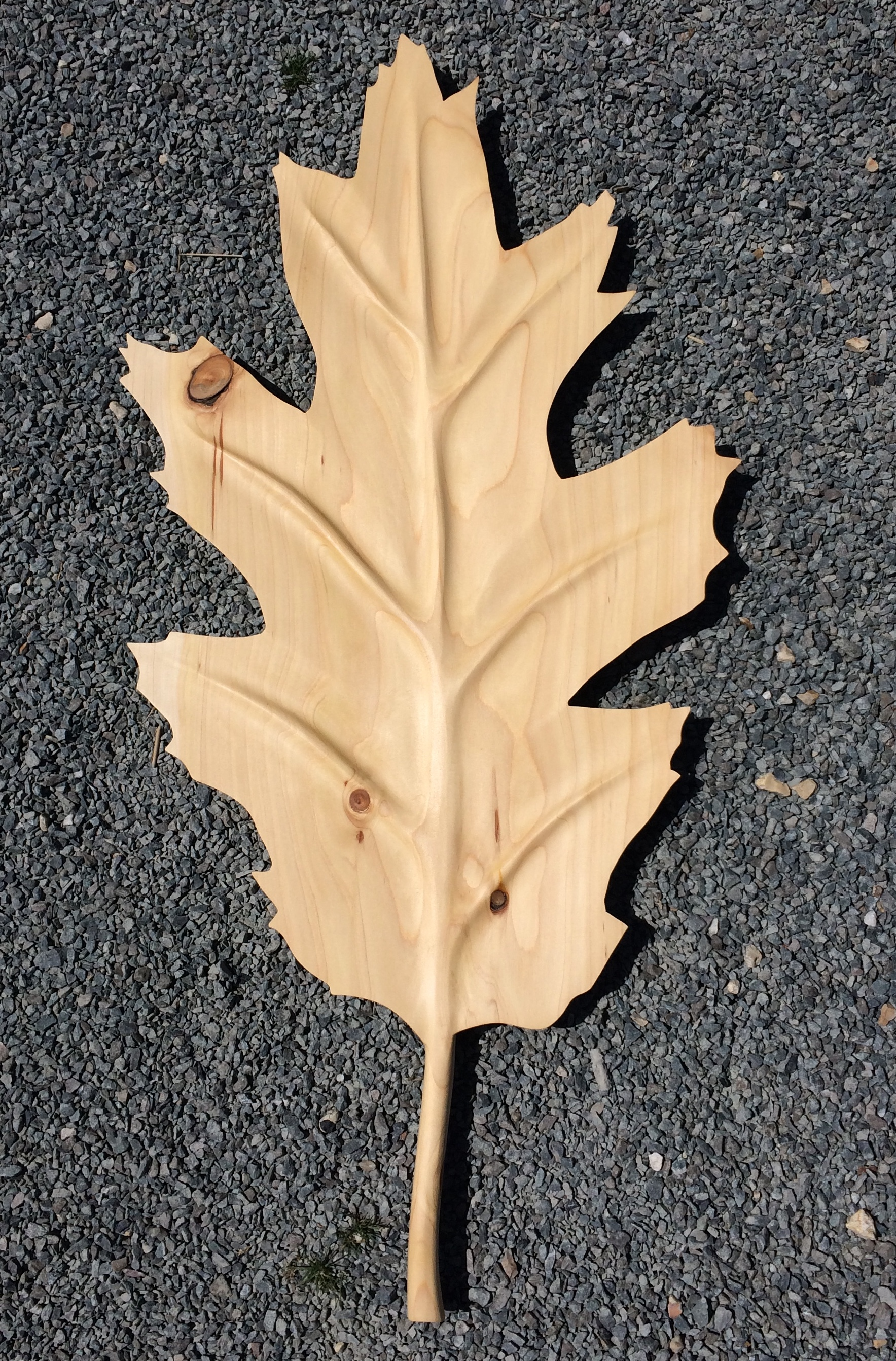 Turkey oak leaf crafted from Leyalndii