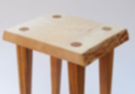 Ash and oak side table