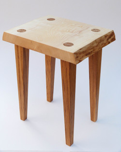 Ash top with oak tapered legs side table