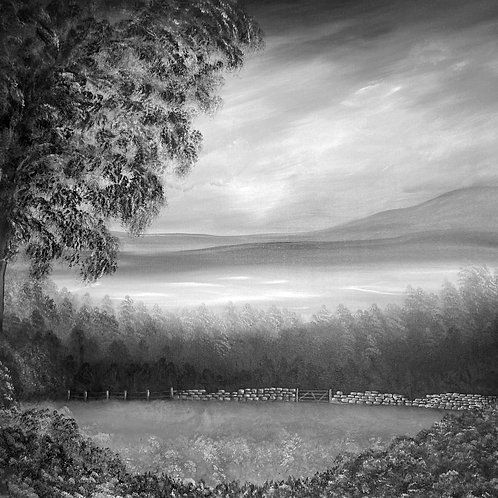 Dreams Of Yorkshire Black & White Canvas Print