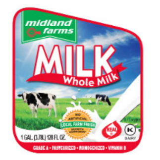 Whole Milk - 1/2 Gal