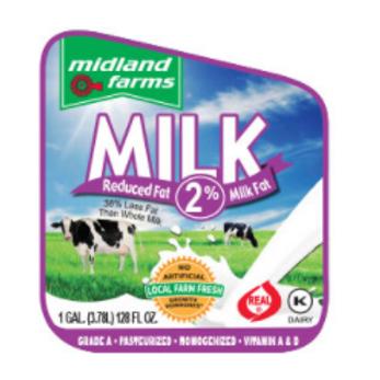 2% Milk - 1/2 Gal