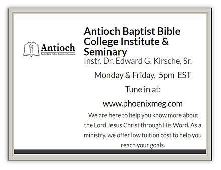 Antioch Baptist Bible College Institute