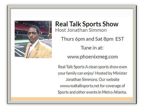 Real Talk Sports Show Host Jonathan Simm