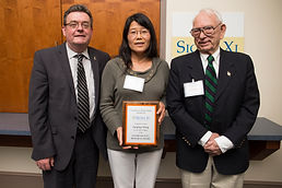 Dr. Wang is featured with Dr. David Norton (L) and Dr. George Edwards (R)