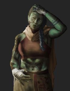 Female Monk (Commission)