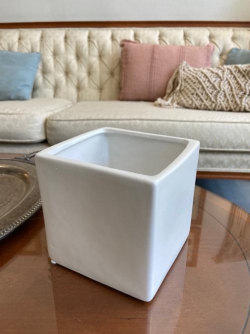 "White Cube Pot 5"""