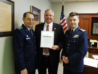 Delegate Buddy Fowler Virginia Wing of the Civil Air Patrol