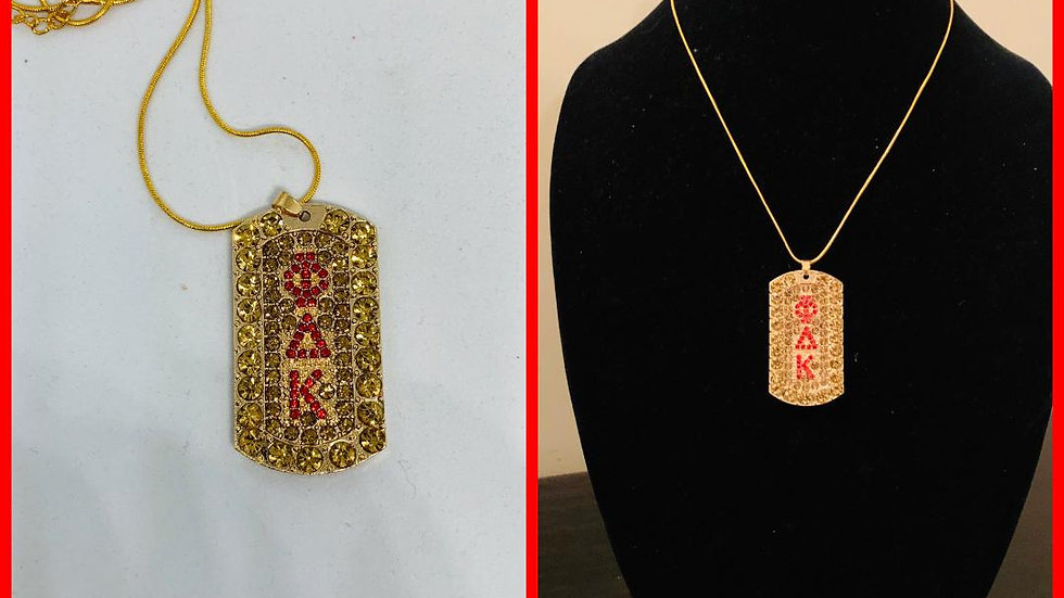 PDK Gold & Red Bling Necklace